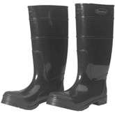 "Durawear Black PVC 16"" Plain Toe Boots, Over-the-sock Style 