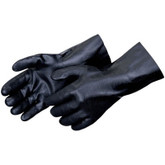 "Durawear Black PVC Work Glove, 14"" Gauntlet, Sandpaper Finish 