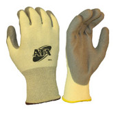 Worldwide Protective ATA® 500 Cut Resistant Work Glove, Grey Polyurethane Palm Coated Palm, ANSI Cut Level 4, Sold Per Pair, Mfg #500