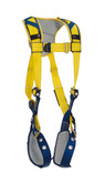 DBI Sala Delta™ Comfort Vest-Style Harness, Back D-Ring, Tongue Buckle Legs Straps, Comfort Padding