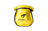 Small parts pouch, innovative self-closure system, vinyl, yellow.