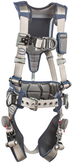 DBI SALA ExoFit STRATA Construction Style Harness by 3M, D-Rings on Front, Back and Sides, Tri-Lock Revolver Buckles, Waist Pad and Belt