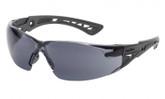Bolle® Rush+ Safety Glasses, Black/Grey Temples , Grey AF Lens | Mfg# 40208