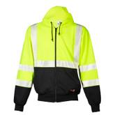ML Kishigo F407 Flame Resistant Black Series Hi-Visibility Hoodie Sweatshirt, ANSI Class 3, NFPA 70E-2012, ARC 2