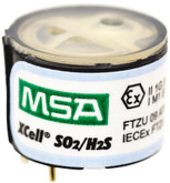 MSA XCell SO2/H2S-LC Replacement Two-Tox Sensor for Altair 4X, Mfg# 10121215
