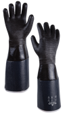 "SHOWA 6781R-06 Neoprene Fully-Coated Glove with 6"" Insulated Sleeve, Triple Layered Foam Insulation, Chemical Resistant,"