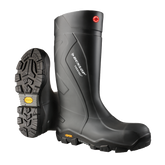 Dunlop Purofort+ EXPANDER Full Safety Boot with Vibram XS Outsole, Charcoal/Black, Mfg# EC02A33