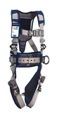 DBI Sala ExoFit STRATA Construction Style Positioning Harness, Aluminum Front, Back, Side D-rings, Duo-Lok quick connect buckles, waist pad and belt