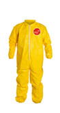Dupont QC125SYL Tychem 2000 Coveralls Elastic Wrists & Ankles, Serged Seams, 12 each per case