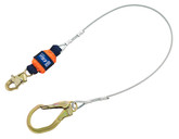 DBI Sala EZ-STOP Leading Edge Cable Shock Absorbing Lanyard, Mfg# 1246261, 6 ft. (1.8m) Cable Single-Leg With Snap Hook At One End, Steel Rebar Hook At Other End