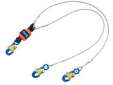 DBI Sala EZ-Stop Leading Edge 100% Tie-Off Cable Shock Absorbing Lanyard, Mfg# 1246068, 6 ft. (1.8m) Cable Double-Leg With Snap Hooks At Each End.
