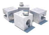 DBI Sala Z Maxi Clamp 4-Pack for Standing Seam Roof Top Anchor, Mfg# 7241204, 4-Pack Kit, Fits Bulb Type Standing Seams.