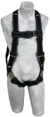 DBI Sala 1110830 Delta Arc Flash Harness with PVC Coated Back D-Ring and Hardware, Nomex /Kevlar, Universal Size