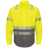 Bulwark FR Hi-Visibility Color Block Uniform Shirt, EXCEL FR® ComforTouch®  7 oz.