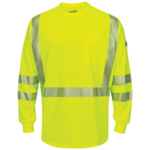 Bulwark FR SMK6HV Hi-Visibility Lightweight T-Shirt, Arc Rating EBT 10 calories/cm²  ANSI 107-2010 Class 3 Level 2 Compliant