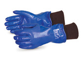 "Superior Glove N230FLK North Sea 11"" Winter Nitrile Coated Gloves, Knit Wrist"
