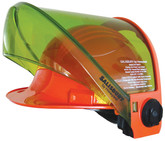 Salisbury AS1200HAT-CLR-PPC Premium Polycarbonate 12 cal/cm² Arc Flash Hard Hat with Face Shield and Transparent Chin Guard
