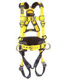 3M DBI-SALA® Delta™ Construction Style Positioning Harness, Tech-Lite Quick Connect Buckles, Back & Side D-Rings