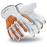 HexArmor Chrome SLT 4060 Leather Impact Gloves, ANSI Cut Level A5