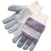 Leather Palm Knit Wrist Work Glove, Gunn Pattern, 1 pair | Mfg 10-5060