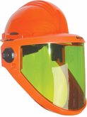 Salisbury 12 cal/cm² AS1200HAT-PPC Premium Polycarbonate Arc Flash Face Shield with Hard Hat