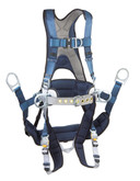 DBI Sala Exofit Tower Climbing Harness, Vest Style, Back D-ring, Belt with pad and side D-rings and Seat Sling