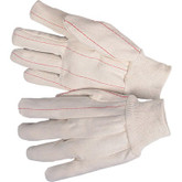 Durawear Canvas Double Palm Work Glove. Knit Wrist, Knuckle Strap, Mfg# 2300DP/KW