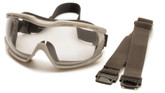 Pyramex Capstone Goggle, Clear Lens with Anti-Fog Coating, Mfg# G604T2