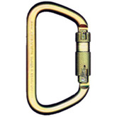 "MSA Rescue Steel Carabiner, 1.2"" (32 mm) Auto-Locking Gate 