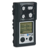 Ventis MX4 Multi Gas Monitor, 4-Gas O2 LEL H2S CO, Black Color, Diffusion, Industrial Scientific VTS-K1231100101