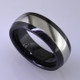 "For the innovative and unique man, this men's ring can be for many occasions. Wear it as a wedding ring, or just a stylish everyday fashion statement ring. This ring is ultra durable for the guy who plays rough. And no charge for re-sizing. This ring is 8mm wide with a slight dome, in polished black ceramic, with a 4mm cobalt chrome inlay, polished to a silky smooth finish. Ring shown is a size 10, but call us with your finger size and we will make it just for you. Usually within just a few days.  This ring is hypoallergenic, and environmentally friendly. Made with Gem Ceramique, this ring uses high tech zirconia ceramic, virtually as hard as sapphire. Ultra durable and stylish, versatile and unique. It even has a Lifetime ""Peace of mind"" warranty against breakage.  Created by award winning jewelry artist Etienne Perret, and made in his studio in Camden, Maine.  This ring is hypoallergenic, and environmentally friendly. Made with Gem Ceramique, this ring uses high tech zirconia ceramic, virtually as hard as sapphire. Ultra durable and stylish, versatile and unique. It even has a Lifetime ""Peace of mind"" warranty against breakage.  Created by award winning jewelry artist Etienne Perret, and made in his studio in Camden, Maine."