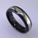 """For the innovative and unique man, this men's ring can be for many occasions. Wear it as a wedding ring, or just a stylish everyday fashion statement ring. This ring is ultra durable for the guy who plays rough. And no charge for re-sizing. This ring is 6mm wide with a slight dome, in polished black ceramic, with a 3mm cobalt chrome inlay, polished to a silky smooth finish. Ring shown is a size 10, but call us with your finger size and we will make it just for you. Usually within just a few days.  This ring is hypoallergenic, and environmentally friendly. Made with Gem Ceramique, this ring uses high tech zirconia ceramic, virtually as hard as sapphire. Ultra durable and stylish, versatile and unique. It even has a Lifetime """"Peace of mind"""" warranty against breakage.  Created by award winning jewelry artist Etienne Perret, and made in his studio in Camden, Maine.  This ring is hypoallergenic, and environmentally friendly. Made with Gem Ceramique, this ring uses high tech zirconia ceramic, virtually as hard as sapphire. Ultra durable and stylish, versatile and unique. It even has a Lifetime """"Peace of mind"""" warranty against breakage.  Created by award winning jewelry artist Etienne Perret, and made in his studio in Camden, Maine."""