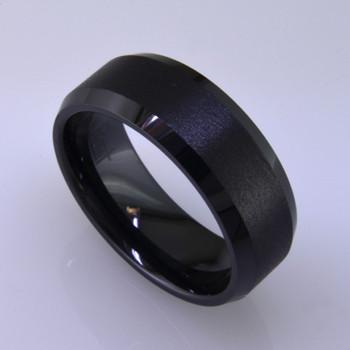 Man S Black Ceramic Wedding Ring