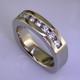 Anniv 37 - Diamond anniversary band custom made for customers engagement ring.