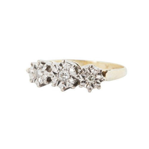 Pre Owned 18ct Gold 3 Stone Diamond Ring