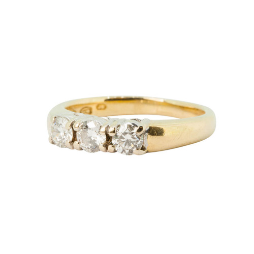 Pre Owned 18ct Gold 0.60ct 3 Stone Diamond Ring
