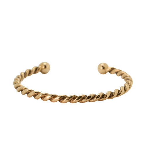 Pre Owned 9ct Gold Torque Bangle