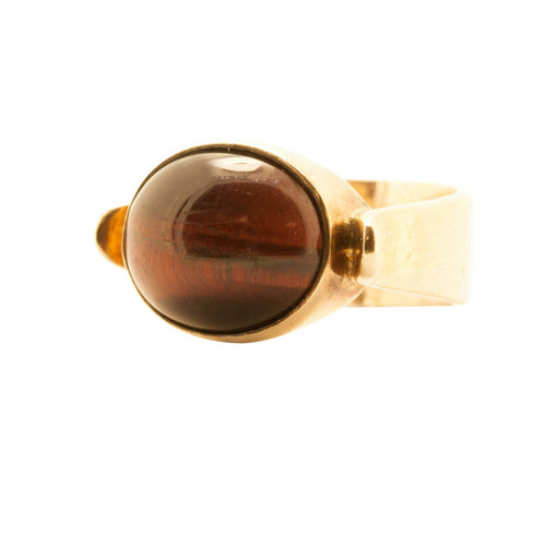Second Hand 9ct Gold, Tiger Eye Signet Ring