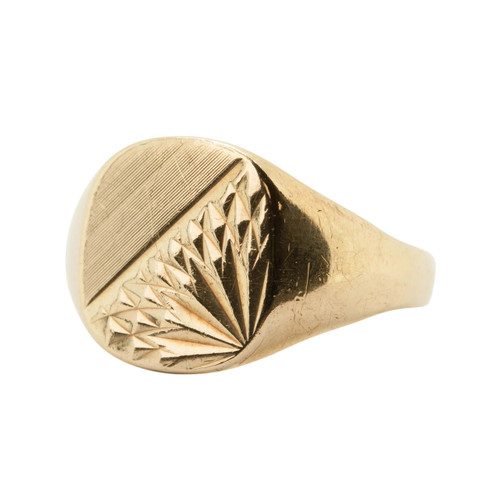 Vintage 9ct Gold Signet Ring – 1966