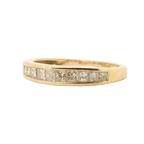 Pre Owned 18ct Gold, Princess Cut Diamond Eternity Ring