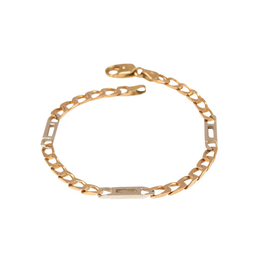 Pre Owned 9ct Gold Fancy Figaro Bracelet