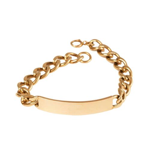 Second Hand 9ct Gold Heavy Identity Bracelet