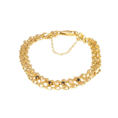 Second Hand 18ct Gold Blue & White Spinel Bracelet