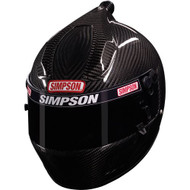 "SIMPSON CARBON AIR INFORCER SHARK HELMET SNELL SA2010 SMALL / MEDIUM 57cm 7 1/8"""