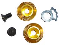 SIMPSON HELMET DETENT SPACER SET KIT FOR SPEEDWAY,DIAMONDBACK, ALL BANDITS GOLD