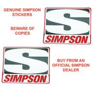SIMPSON GENUINE STICKERS x2 DECAL SET 76mm x 64mm BANDIT DIAMONDBACK SPEEDWAY