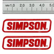 SIMPSON GENUINE STICKERS x2 DECAL SET 50mm x 15mm BANDIT DIAMONDBACK SPEEDWAY
