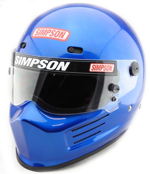 99b3b222 SIMPSON SUPER BANDIT HELMET SNELL SA2015 BLUE - Simpson Racing UK