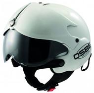 OPEN FACE SCOOTER MOTORCYCLE HELMET OSBE GPA AIRCRAFT TORNADO WHITE METALLIC