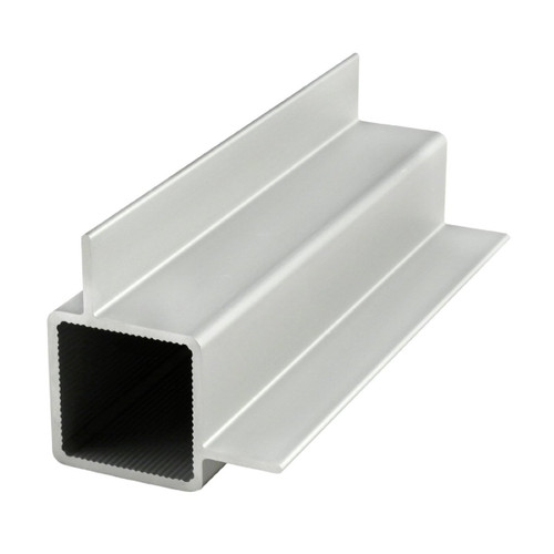 """80/20 9010 Quick Frame - 1"""" Square Right Angle Double Flanged Tube - CPI Automation"""